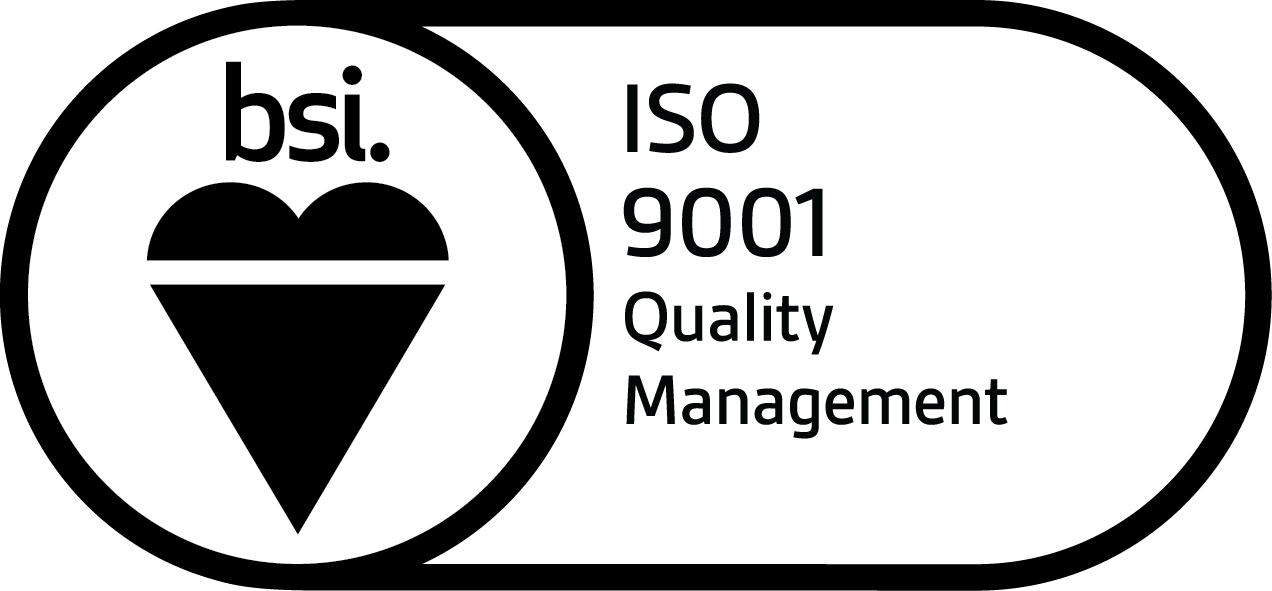 BSI Assurance Mark ISO 9001 KEYB English Black JPG