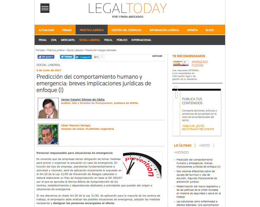 Legal today portada