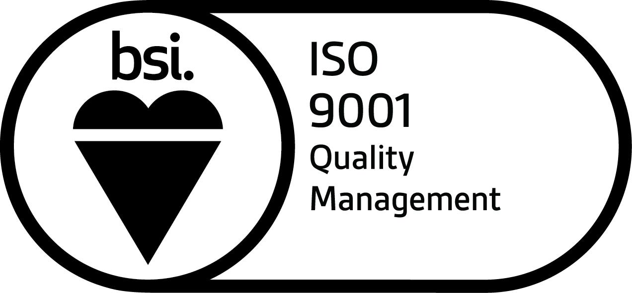 BSI Assurance Mark ISO 9001 KEYB English Black JPG
